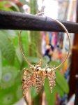 画像3: 立体 蝶々フープピアス (3)