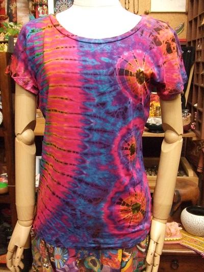 画像1: タイダイ スパンデックス Tシャツ (1)