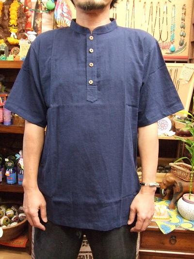 画像1: オリジナル/コットン半袖メンズゆったりサイズ半袖プルオーバー (1)