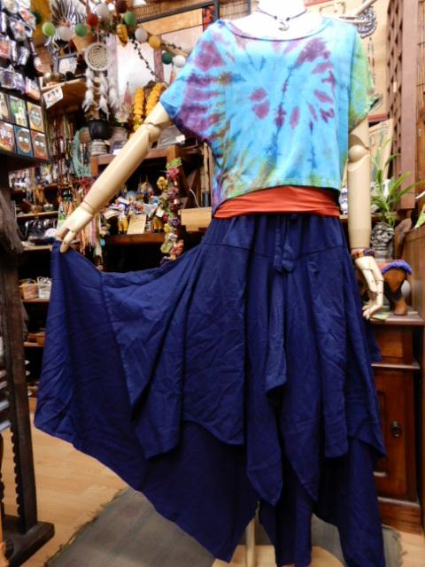 画像1: レイヤード 変形スカート (1)