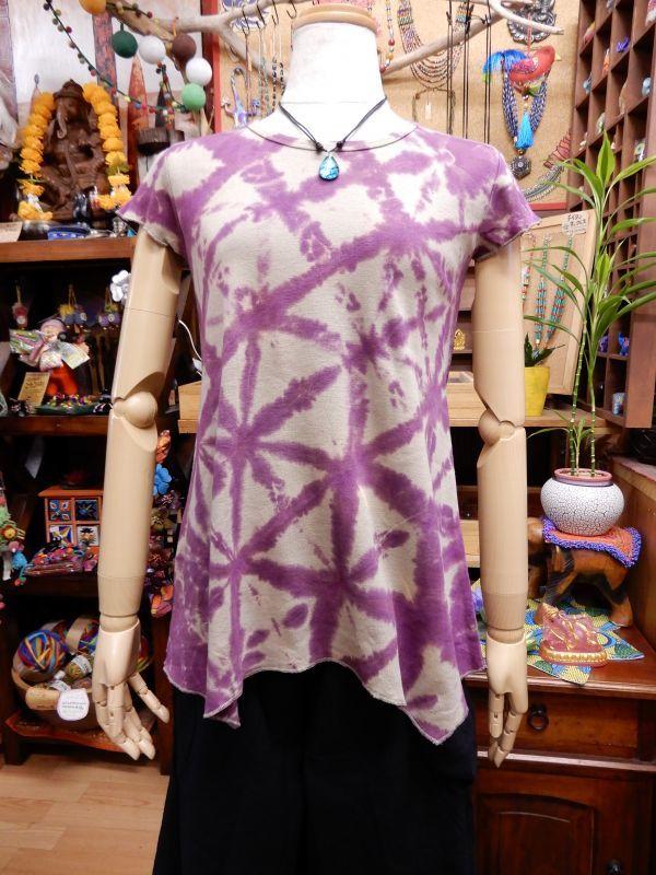 画像1: タイダイ 裾変形半袖Tシャツ (1)